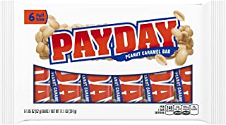 Payday Peanut Caramel Bar, 6 Count