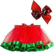 Rmeioel Kids Girls Tutu Christmas Party Dance Ballet Toddler Costume Skirt+Bow Hairpin Outfits