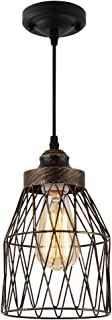 Pendant Lighting with Highlights Oil Rubbed Finish,Industrial Pendant Light for Bar Counter Gallery Artist Workshop Farmhouse