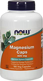 NOW Magnesium 400mg, 180 Veg Capsules