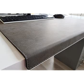 Gewinkelte Schreibtischunterlage Mit Kantenschutz Nubuk Leder 70 X 47 Dunkelgrau Amazon De Burobedarf Schreibwaren