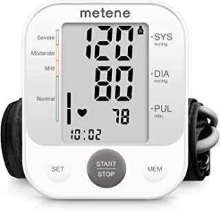Blood Pressure Monitor Upper Arm BP Cuff Machine, Accurate Automatic High Blood Pressure Machine Kit, Pulse Rate Monitor for Home Use