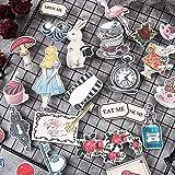 XCVBN Vintage DIY Alice Series Stickers Scrapbooking Junk Journal Album Diary Happy Plan Decorative Stickers 30Pcs/Bag