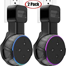TOOVREN Upgraded Outlet Wall Mount Holder Stand for Echo Dot 3rd Generation (No Muffled Sound) Space-Saving Alexa Accessories for Your Smart Home Speakers Without Mess Wires or Screws (2 Pack)