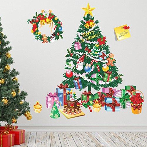 WSHLLiang Vinilos Navideños para Escaparates - Vinilos Decorativos Árbol De Navidad - 4 Piezas