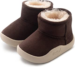 Baby Toddler Snow Boots Winter Warm Infant Bootie Anti-Slip Kids Newborn First Walker Outdoor Shoes for Girls Boys