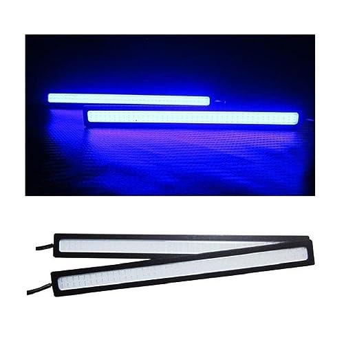 Univ Cobe LED Lights Fog Light Car DRL Day Time Running Lights-Dark Neon Blue