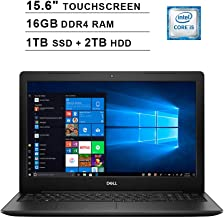 2019 Newest Dell Inspiron 15 3593 15.6 Inch Touchscreen FHD Laptop (10th Gen Inter 4-Core i5-1035G1 up to 3.6GHz, 16GB DDR4 RAM, 1TB SSD (Boot) + 2TB HDD, Intel UHD Graphics 620, Windows 10, Black)