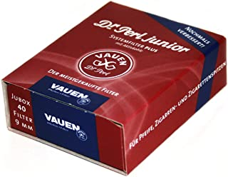40 filters x 9mm Charcoal Pipe Filter VAUEN dr. Perl Junior