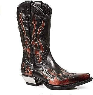 New Rock Boots Unisex Punk Gothic Bottes Hommes: chaussures Bottes Style 107 S2 Argenté