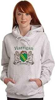 Harrigan Irish Coat of Arms Ash Hooded Sweat shirt