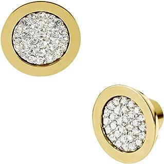 Michael Kors Brilliance Gold Pavé Slice Stud Earrings MKJ1965