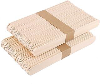 CCINEE 木製棒 長150mmx巾17mm 100本 新しい使い方 いろんな芸術品や作品を作り用に (木色)