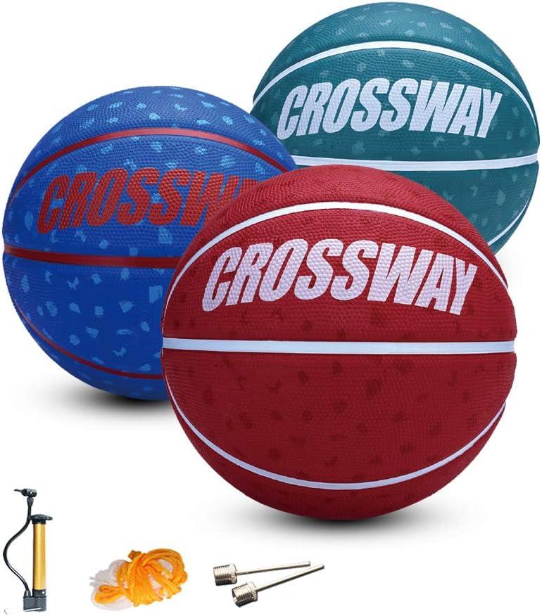 Crossway Sports 8 inch 3 PCS Kids Basketball Small Size 4 Ball f