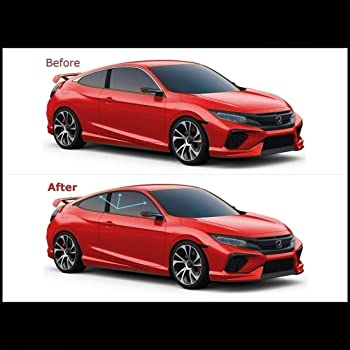 Amazon Com Chrome Delete Vinyl Kit Blackout Trim Overlays Compatible With 2016 20 Honda Civic Coupe Chrome Trim Matte Black Automotive