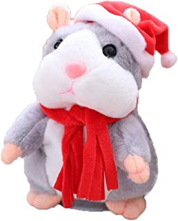 Eocolz Talking Hamster Repeats What You Say Mimicry Pet Plush Buddy Electronic Mouse Interactive Toy Funny Kids Stuffed To...