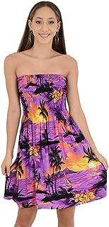 فستان حريمي من ISLAND STYLE CLOTHING مطبوع عليه غروب الشمس الاستوائي