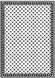 Melody Jane Dollhouse Checker Octagonal Mono Tile Floor Black & White Gloss Card Sheet