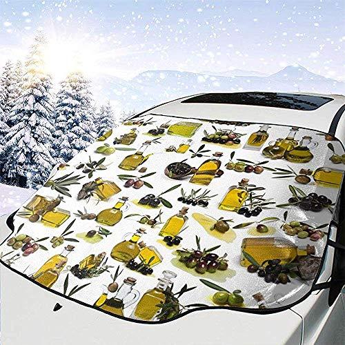 c-sky Sonnenschutz Olivenöl Windschutzscheibe Schneedecke Eisentfernung Wischer Visier Protector - Frost/Wasser/Kratzer/Hitzebeständig