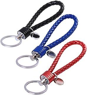 WetrysSchlüsselanhänger, geflochtenes PU Lederband, Auto Schlüsselanhänger mit Ring, 20 Stück Group A