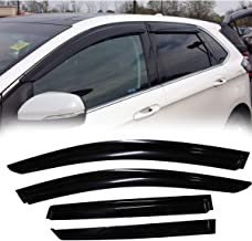 MGPRO 4pcs For 2015-2018 Ford Edge Smoke Deflector Sun Rain Guard Vent Shade Window Visors