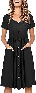 Best black button down midi dress Reviews