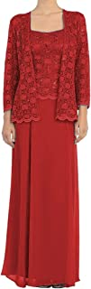 Mother of The Bride Dresses Long Evening Dresses Lace Formal Gowns Jacket Mothers Bride Dresses - coolthings.us
