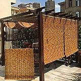 LMDX Cortina De Bambú Persianas Enrollables, Persiana Bambu Exterior, Sombreado, Toldo Vertical, Balcón Privacidad Cortinas, Estor Bambu para Ventanas Y Puertas