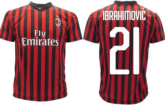 Maglia Ibrahimovic Milan Ufficiale 2019 2020 AC Adulto Bambino Zlatan Ibra Home 21