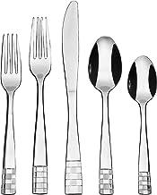 KOOMADE 2032A-D20 Juego de cubiertos de 20 piezas (cenador, tenedor de ensalada, cuchillo, cuchara, cucharadita) en cubert...