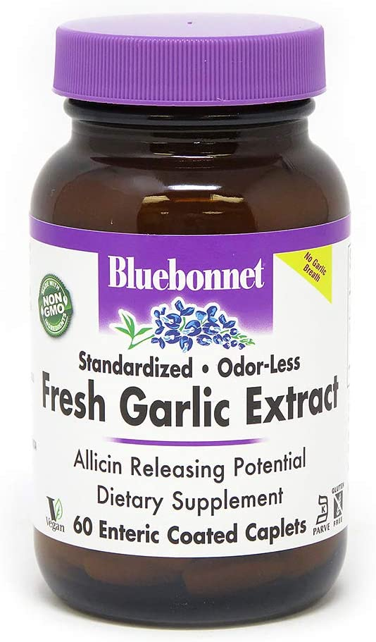 BlueBonnet Standardized Fresh Garlic Supp Max 60% OFF service Enteric Coated Extract