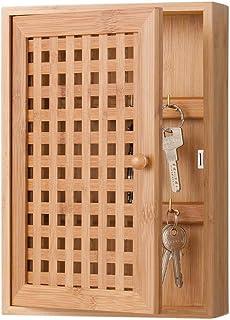 Zeller 13876 Armoire à clés en bambou, 19 x 6 x 27