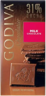 Godiva Milk Chocolate Bar, 3.5-Ounces (Pack of 5)