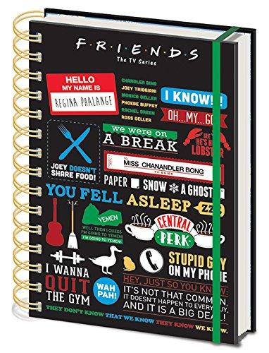 Friends - Cuaderno A5 Espiral Infographic [Edizione: Spagna]