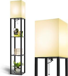 MOFFE Column Floor Lamp with Shelves, Modern Shelf Floor...