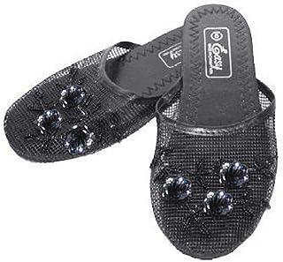 Easy Women's Black Chinese Mesh Slippers