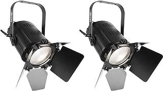 (2) Chauvet DJ EVE F-50Z LED Fresnel DMX White D-Fi Spot Lights, w/Manual Zoom
