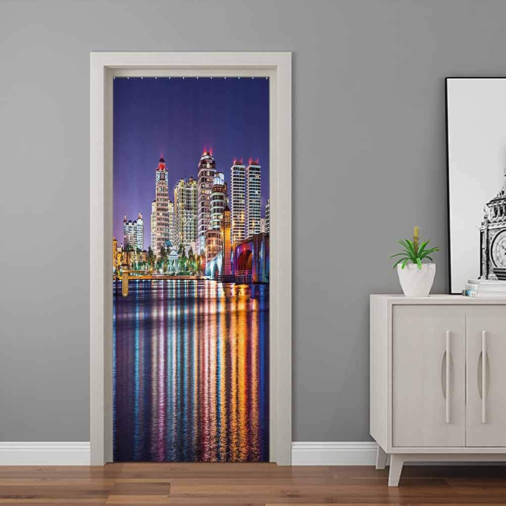 American Door Murals The Townscape Long Beach Mall Clearance SALE Limited time of a Florida Skyline Nightime