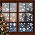 190PCS Christmas Snowflake Window Stickers Clings Decorations White Christmas Window Decals for Holiday Winter Window Decal