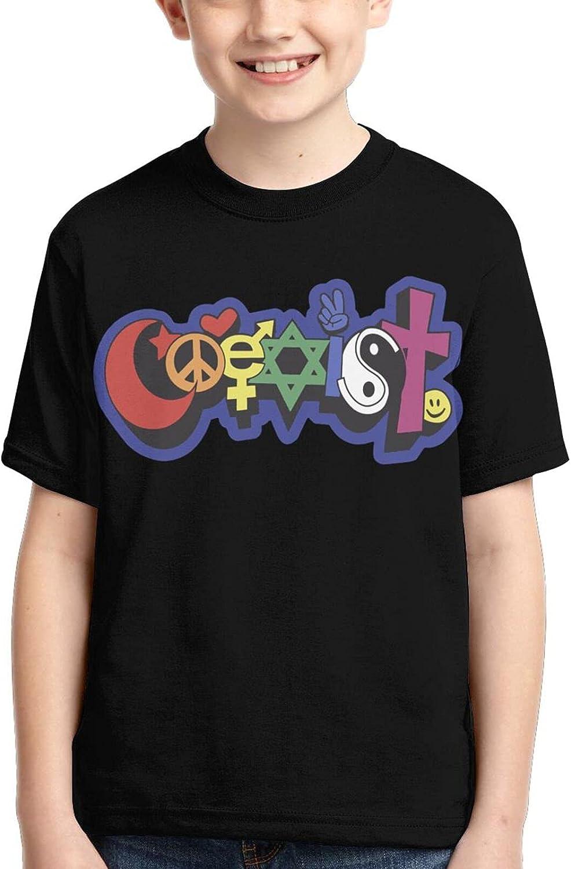 Oklahoma City Mall Rainbow Coexist Boy Popular brand in the world Girl's 3D Kids Sleeve Short T-Shirt