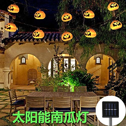 Halloween Lichterkette Solar Im Freien Wasserdichte Kürbis Licht Wohnkultur Party Garten 420 Cm A