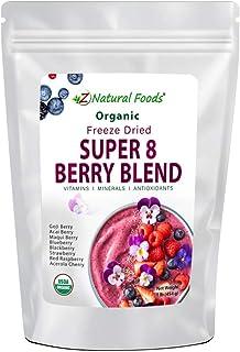 Organic Super 8 Berry Blend - Goji + Acai + Maqui + Blueberry + Blackberry + Strawberry + Red Raspberry + Acerola Cherry -...