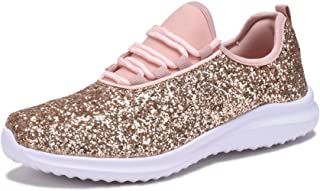 Ashley A Collection A6341 Glitter Fashion Sneakers White