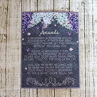 Lilac Asking Bridesmaid Or Maid Of Honor Invitation