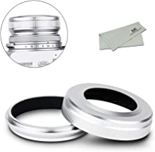 Metal Lens Hood for Fujifilm X100V X100F X100T X100S X100, 49mm Filter Adapter Ring and Lens Shade Set, Replaces Fujifilm LH-X100 Hood and AR-X100 Adapter Ring (Silver)