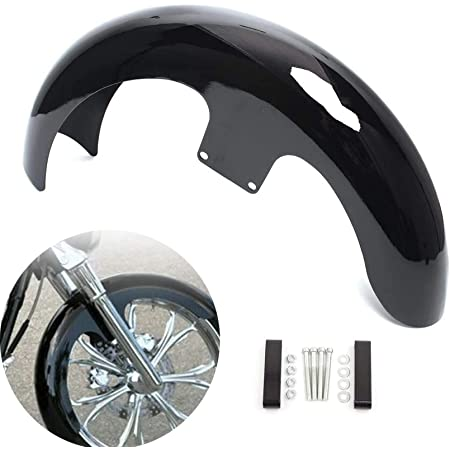 """Details about  /Unpainted//Painted Black 23/"""" Wrap Front Fender Fit For Harley Touring Road King"""
