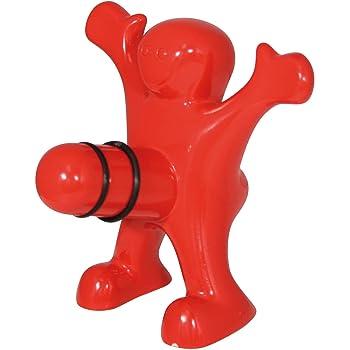 Happy Man Bottle Stopper, Standard, Red
