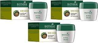 3 x Biotique Henna Leaf Powder Hair Color -90g