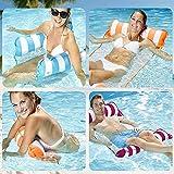 Hamaca inflable Pool Float, 4 en-1 Piscina multiusos Hamaca (silla de silla, silla de salón, hamaca, drifter) Silla de piscina, Hamaca de agua portátil Hamaca Sillón Juguetes al aire libre, luz azul D