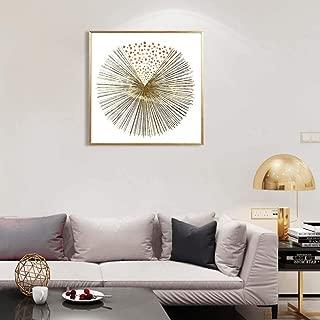 MOTINI Abstract Prints Gold Sunburst 23.62